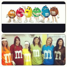 Character day ! M&Ms! Too cute! Homecoming week!