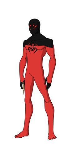 Scarlet Spider redesign (Kaine) by shorterazer on DeviantArt Superhero Poster, Superhero Characters, Superhero Design, Marvel Art, Marvel Heroes, Scarlet Spider Kaine, Arma Steampunk, Blade Marvel, Symbiotes Marvel
