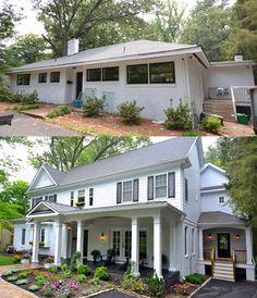 63 Trendy exterior remodel before and after facades House, Exterior House Remodel, Home Additions, Ranch House Remodel, House Exterior, Gothic Home Decor, Gothic House, Exterior Remodel, Rustic House
