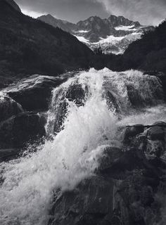 Ansel Adams (Waterfall, Northern Cascades, Washington, Photograph by Ansel Adams; Collection Center for Creative Photography, The University of Arizona; The Ansel Adams Publishing Rights Trust) Creative Photography Poses, Nature Photography, Photography Portraits, Photography Flowers, Photography Projects, Inspiring Photography, Flash Photography, Underwater Photography, Photography Tutorials