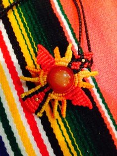 sunset color nazca lines necklace