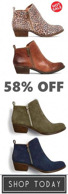 6d2d3298d96 Womens New Leather Suede Booties Chunky Heel Vintage Boots
