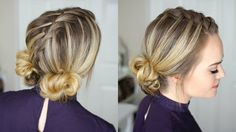 Waterfall Mohawk + Double Low Buns | Missy Sue