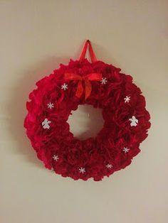 Handmade by HeidiH Door Wreaths, Origami, Crochet Earrings, Handmade, Crafts, Vintage, Malli, Door Hangers, Christmas Ideas