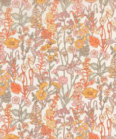 Liberty Art Fabrics Flowers B Tana Lawn Cotton Textile Prints, Textile Patterns, Floral Prints, Textiles, Flower Background Wallpaper, Flower Backgrounds, Liberty Art Fabrics, Liberty Print, Art Nouveau