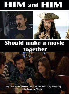 Robert Downey Jr & Johnny Depp should do a movie together haha but only if Johnny depp looked like jack sparrow in it Captain Jack Sparrow, Robert Downey Jr, Funny Quotes, Funny Memes, Hilarious, Funny Ads, Funniest Memes, The Pirates, Haha
