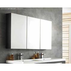 Quartet Designer Large Bathroom Mirror - Black Wood Finish