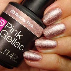 125 Bronzy Pink 15 ml - Bronzo - Smalto semipermanente Pink Gel Nails, Gel Nail Polish Colors, Nail Polish Kits, Gel Color, Gel Polish, Nail Colors, Shellac, Uv Lack, Nails