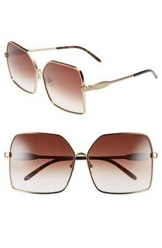 Wildfox 'Fontaine' 63mm Oversize Sunglasses