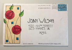 pushing the envelopes Envelope Lettering, Calligraphy Envelope, Envelope Art, Envelope Design, Pen Pal Letters, Letter Art, Letter Writing, Mail Art Envelopes, Making Envelopes