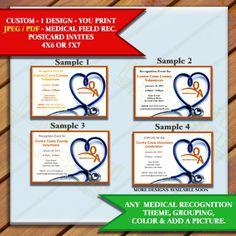 Custom Invites Medical Invitations for Dinners, Awards, Appreciation, or…