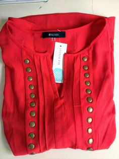 Stitch Fix - 41Hawthorn Moni Stud 3/4 Blouse (most wanted shirt & I LOVE this color)
