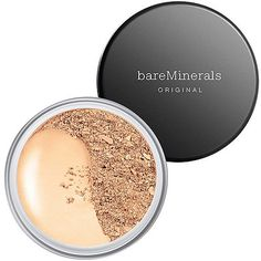 bareMinerals ORIGINAL Foundation Broad Spectrum SPF 15 is the original clean, skin-improving loose mineral foundation that delivers lightweight, buildable coverage and a natural luminous finish. Loose Powder Foundation, Mineral Foundation, Matte Foundation, No Foundation Makeup, Bare Minerals Powder Foundation, Bareminerals Original, Mineral Veil, Thing 1, Make Up