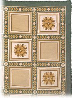 "A 1940's Portuguese Arraiolos Needlepoint Carpet. Size: 25'0"" × 18'7"" at F.J. Hakimian."