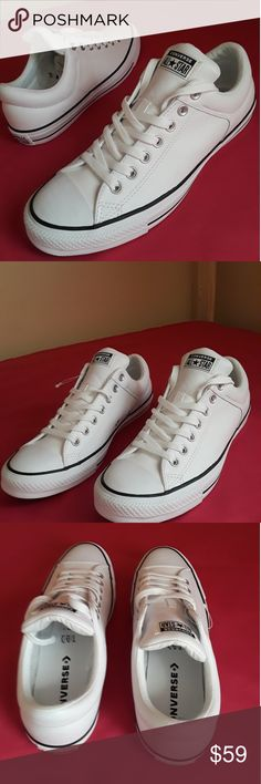 dda064ee4982 New Converse All Star Size 11 WOMEN AND 9 MEN For MEN SIZE 9 and WOMEN SIZE  11. Shoes is BRAND NEW GENUINE WHITE LEATHER authentic Converse All Star ...