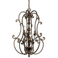 Home Lighting - Kichler Lighting - 43282TRZ - Large Foyer Pendant 6Lt