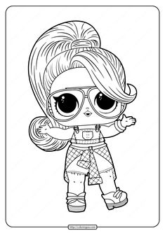 lol surprise hairgoals series dolls coloring pages free printable pages for kids in 2020