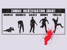 Identification chart for zombies. Could be quite useful once they come to eat us!