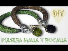 DIY PULSERA MALLA Y ROCALLA ♥ Qué cositas - YouTube