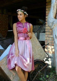 HERZ´SACH Dirndl ® | ONLINE SHOP Drindl Dress, Dress Outfits, Hot Pink Fashion, Fashion Show Dresses, Frack, New Wardrobe, African Dress, Most Beautiful Women, Traditional Outfits