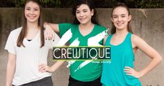 Crewtique Tees, Tanks & Sweats.. add these items to your Studio Swag @movesocietyhype #crewtique #customapparel
