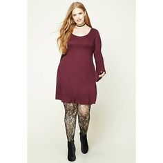 Forever21 Plus Size Bell Sleeve Dress ($16) ❤ liked on Polyvore featuring plus size women's fashion, plus size clothing, plus size dresses, aubergine, women's plus size dresses, plus size white dress, long white dress, plus size trapeze dress and long dresses