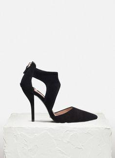 Suede vamp and heel - See all - FOOTWEAR - Uterqüe United Kingdom