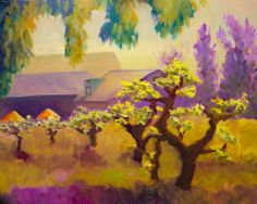 Spring at the Valley of the Moon Winery in Sonoma (oil painting by Pat Meier-Johnson)