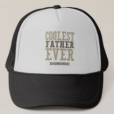 Personalized Coolest Father Ever Trucker Hat kids fathers day gift ideas, mom bday gifts, diy fathers day gifts from kids crafts Stepdad Fathers Day Gifts, Fathers Day Ideas For Husband, Easy Fathers Day Craft, Homemade Fathers Day Gifts, Mother Birthday Gifts, Mothers Day Presents, Grandpa Gifts, Gifts For Father, Dad Presents