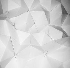 Repeat 3D Pentagons, paper folding