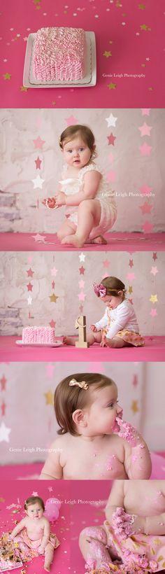 Twinkle Genie Leigh Photography, Pink & Gold Birthday, Studio, Wilmington, NC Star