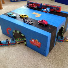 Kid car and train play box. A special box for my little boy!
