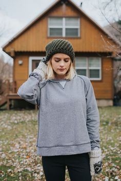 SHOP HERE! Our NEW Campus Crew Neck Pullover features soft, medium weight french terry fabric in a head turning heather grey. Whether you throw it on for a sunrise hike, campfire with friends, or simply lounging, we promise you'll never want to take it off. Featuring a slight crop, it's perfect for layering over your favorite top and pairing with our new Black High-Waisted Leggings. You'll wear this outfit all fall long! To see more, head to albionfit.com | @albionfit