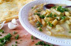 Diétás zöldbabfőzelék rántás nélkül Kefir, Cheeseburger Chowder, Food And Drink, Soup, Soups