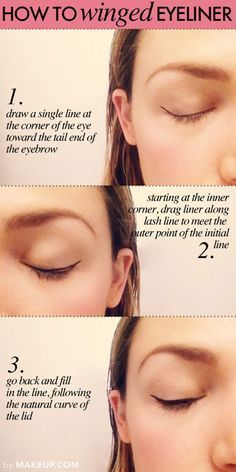 how to apply winged eyeliner #makeup #wingedlinersubtle