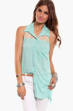 Candy Lace Button Up $50 at www.tobi.com