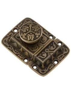 Cast Brass Butterfly Pattern Turn Latch In Antique By Hand   House of Antique Hardware