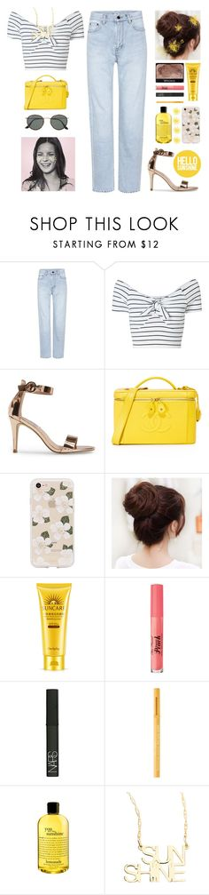 """Im walking on sunshine..."" by aby-ocampo ❤ liked on Polyvore featuring Yves Saint Laurent, Miss Selfridge, Steve Madden, Sonix, NARS Cosmetics, Too Faced Cosmetics, philosophy, Jennifer Zeuner and Ray-Ban"