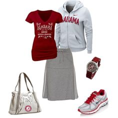 Roll Tide! Trade the skirt for some Capri yogas and I'm all over it!!