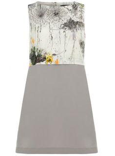 Floral printed bib dress