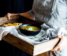 Indian spiced pumpkin and root vegetable soup by Nadia Lim | NadiaLim.com
