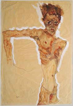 Egon Schiele / Self-Portrait / 1911 / Watercolor, gouache and pencil on paper / 51.4 x 34.9 cm / Metropolitan Museum of Art, New York