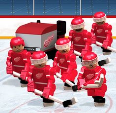 13 best NHL     Goalies images on Pinterest   Hockey  Ice hockey and     OYO Sportstoys     NHL OYO minifigures     Detroit Red Wings  Team Set