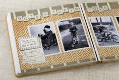 Boys & Their Toys Vintage Chic Scrapbook Layout from Creative Memories