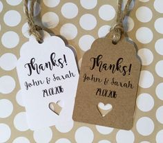 Personalised Wedding Favour Thank You Tags