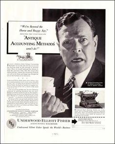 1933 Underwood Elliott Fisher Accounting Machines Original Vintage Print Ad | eBay