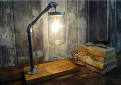 "Rustic ""mason jar light"" LOVE the IDEA! :)"