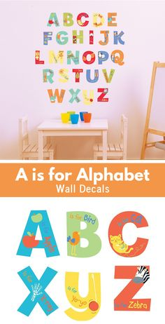 This alphabet wall decals are a colorful and educational way to decorate a toddler room. They would work for both boys and girls!