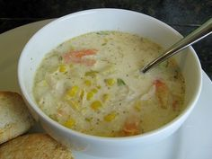 Rachael Ray's crab and corn chowder?