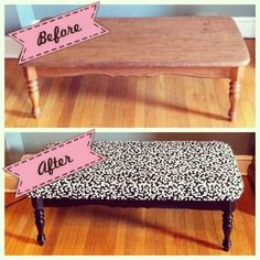 Rectangular coffee table turned ottoman
